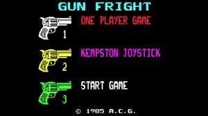 Gunfright title screen