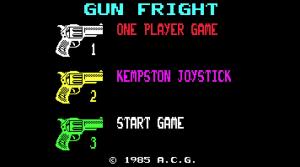 Gunfright title screen