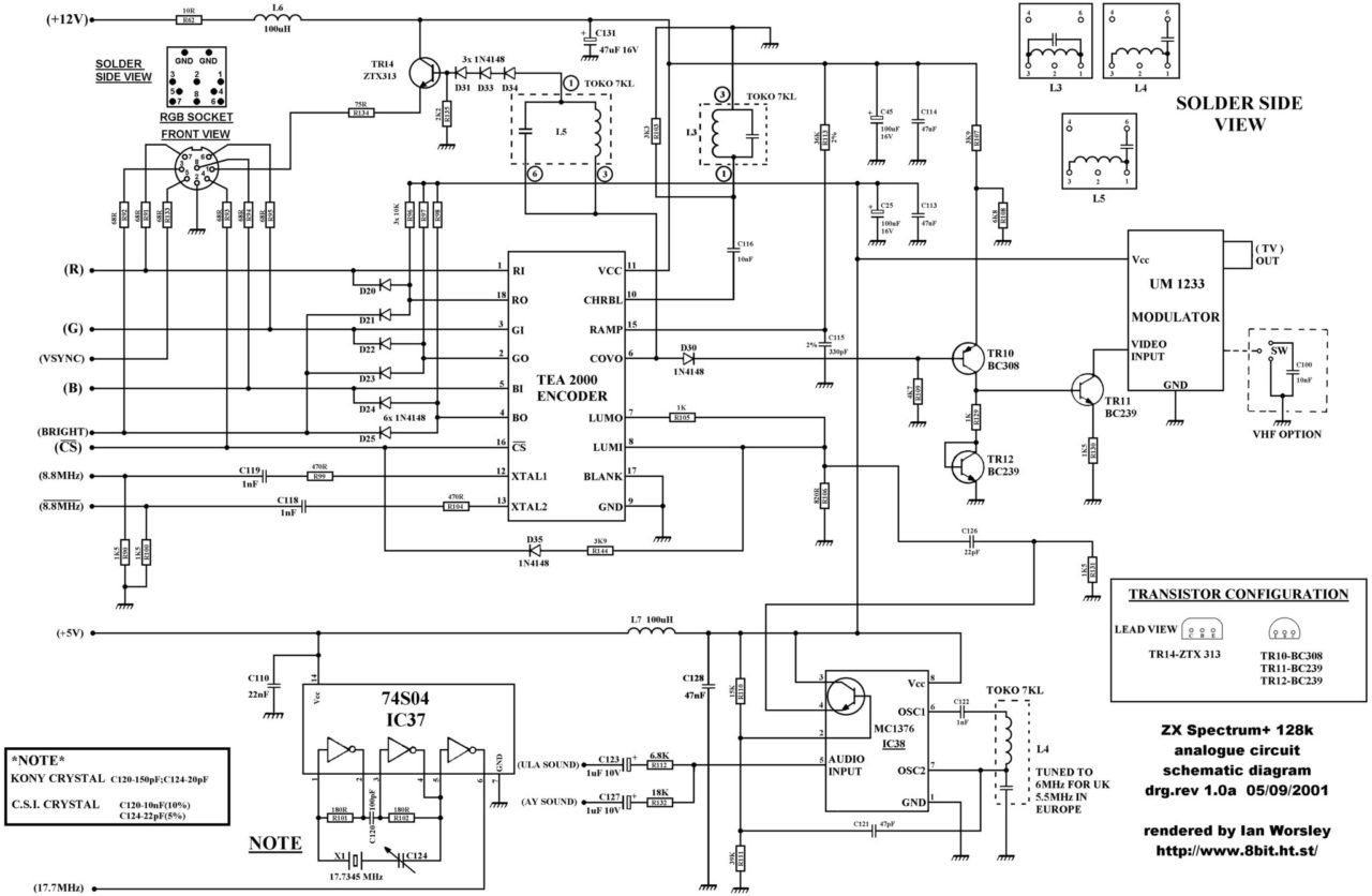 Zx Spectrum Pcb Schematics And Layout For Everyone 2 Schematic Wiring Digital Side