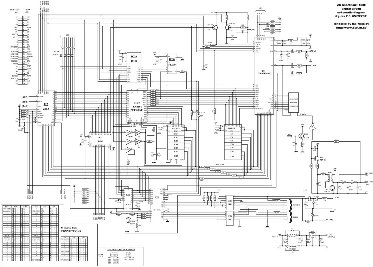 ZX Spectrum PCB Schematics and Layout - Spectrum for Everyone